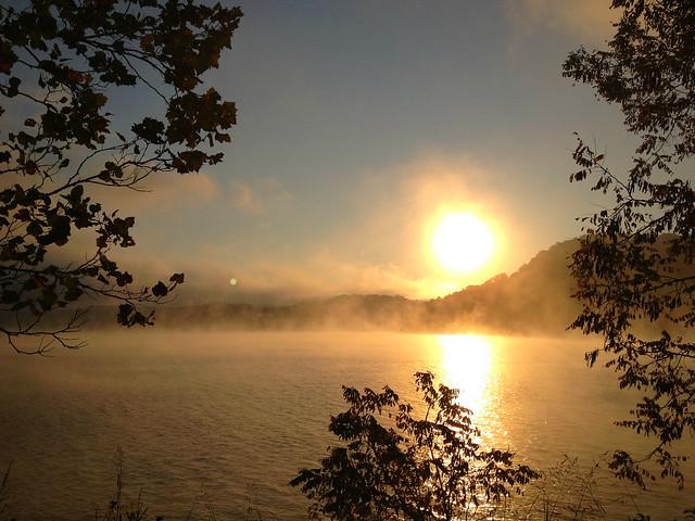 Sunrise at Claytor Lake State Park