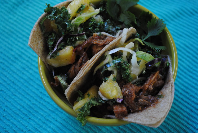 Hawaiian Pork Tacos with Pineapple Slaw