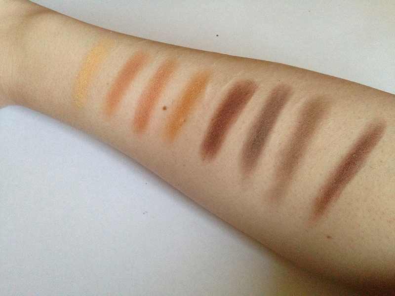 NYX Book of Smokey Collections Bronze Smokey Swatches
