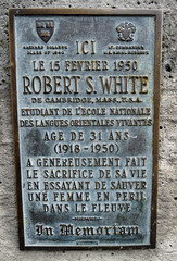 Photo of Robert S. White bronze plaque