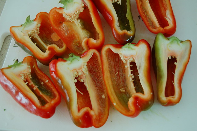 Red peppers by Eve Fox, the Garden of Eating, copyright 2014