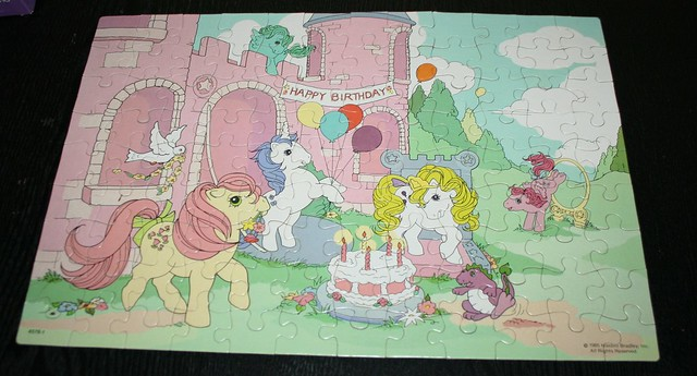 My Little Pony Jigsaw puzzle (1985) - Dream Castle & Birthday Party