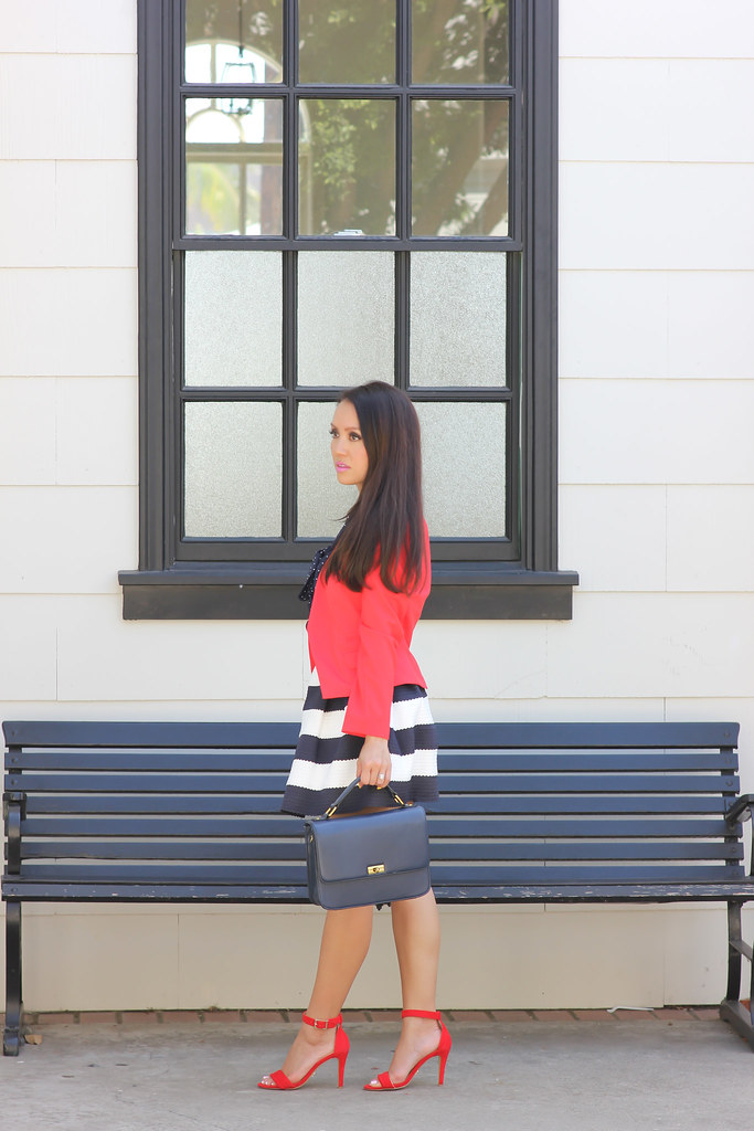 Navy Stripes, polka dots and red-7