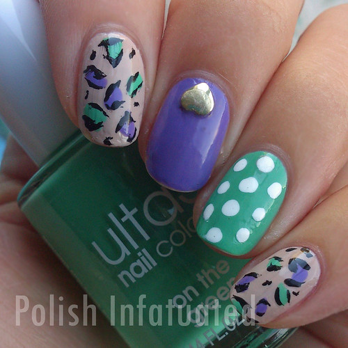 purple and green leopard