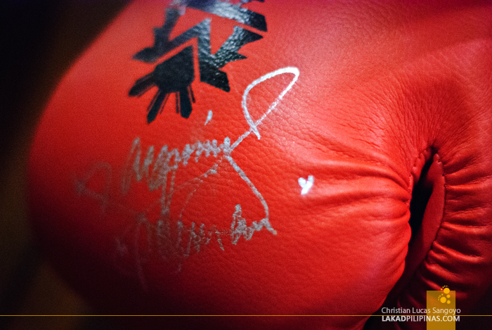 Signed Pacquiao Gloves at J.J. Sports Bar in Parañaque City