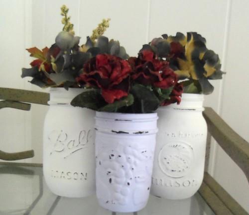 Painted Mason Jars by sunshinedaydreamz