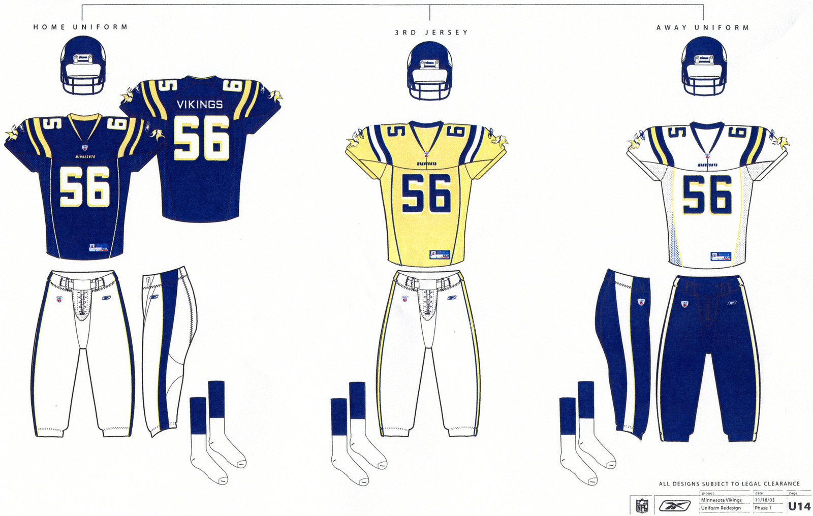 98af71212b8 Minnesota Vikings rejected these uniform designs -- Uni Watch