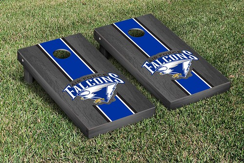 Air Force Academy Falcons Cornhole Game Set Onyx Stained Striped Wooden