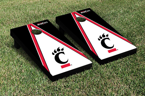University of Cincinnati Bearcats Cornhole Game Set Triangle Version