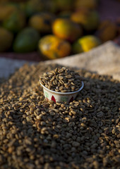 Coffee beans Sold In A Market, Hana Mursi, Ethiopi…