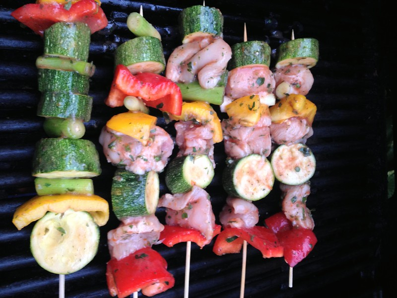 Naga Chilli Chicken Kebabs : Cook under the grill or on the BBQ