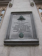 Photo of Samuel Seabury stone plaque