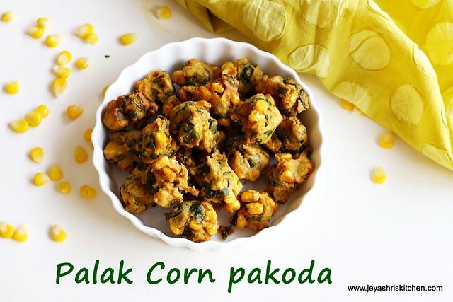 Palak-corn-pakoda