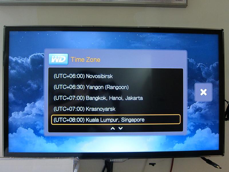 WD TV - Setup Timezone