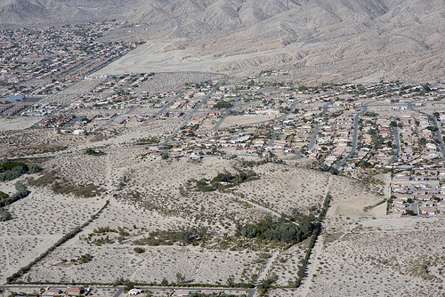 Above Desert Hot Springs and the Mission Creek Fault, Riverside County, California