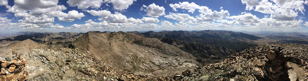 Pano view from Ruby Dome Summit