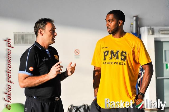 PMS - Derthona (amichevole) - coach Bechi con Lewis