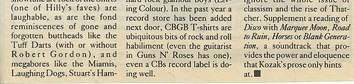 """This Ain't No Disco: The Story of CBGB"" (Book Review - 10/26/88 City Pages)(3 of 3)"