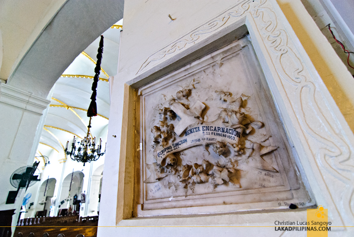 A Tombstone at Vigan City's St. Paul Cathedral