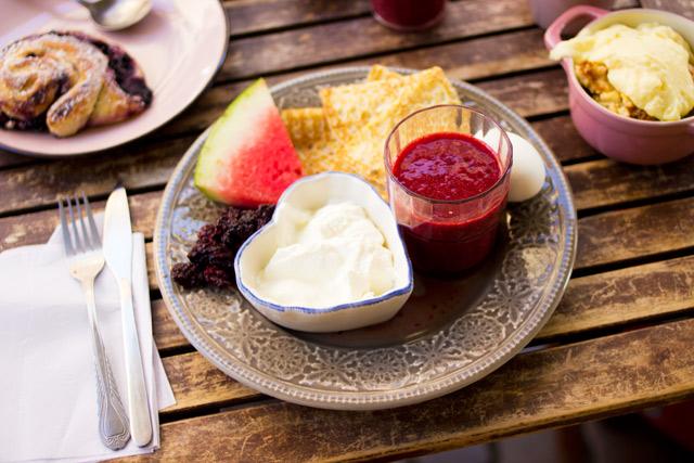 Typical Swedish buffet breakfast at Café Kringlan Gothenburg