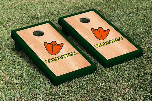 Oregon Ducks Cornhole Game Set Hardcourt Version