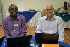 Acho Okike and Iddo Dror (ILRI) at the Nicaragua livestock planning meeting