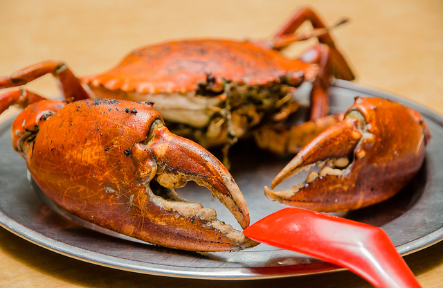 Hing Ket Grill House's large grilled crab