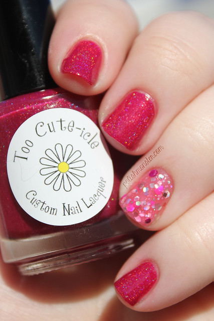 Too Cute-icle Hibiscus with Blue Eyed Girl Lacquer Is That A Technical Term, Jiggery Pokery?