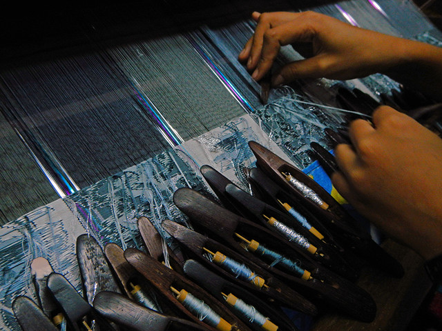 Weavers in Mandalay, Myanmar
