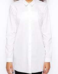 MONKI white shirt dress
