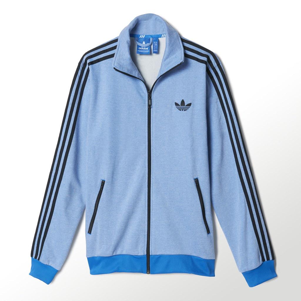 adidas firebird (fb) tracktop tt black and blue new article !!