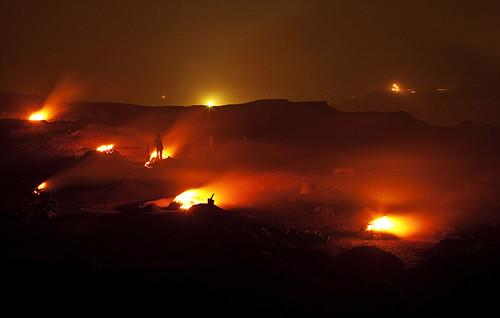 Flames Jharia Coalfield