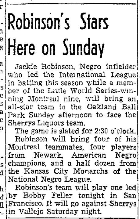 jackie robinson oakland october 19 1946