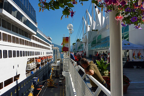 Holland America Line Cruise Ship docked at Canada Place, Vancouver, British Columbia