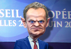 Donald Tusk - Caricature