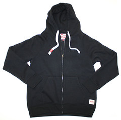 Mens Zip-Up Hooded Sweatshirt Black