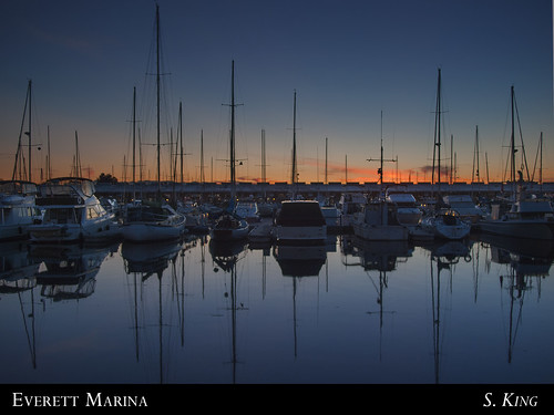 sunset night marina boats ships masts everett sking5000