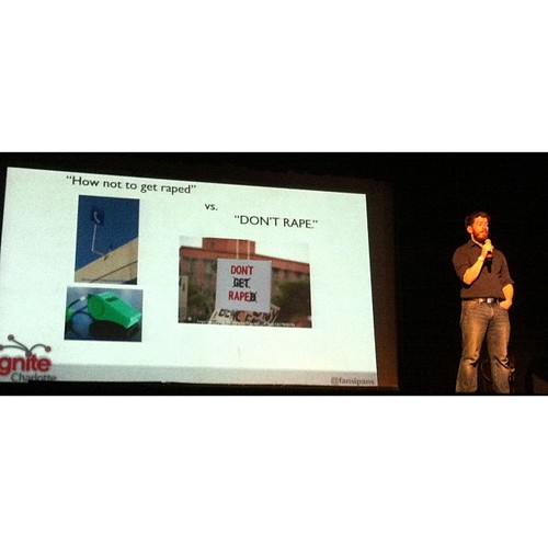 Mike rocked at Ignite tonight. There was extra applause for this slide.