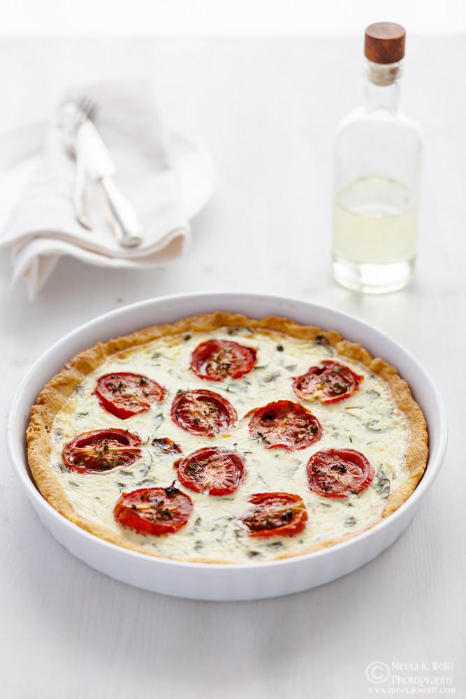 Polenta Tomato Basil Tart (0058)