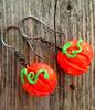 Handmade Glass Pumpkin Earrings