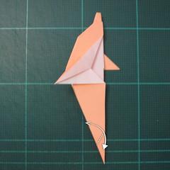 วิธีพับกระดาษเป็นรูปปลาโลมาแบบง่าย (Easy Origami Dolphin) 015