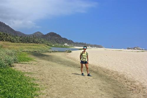 Lina on Arrecifes beach of Tayrona National Park