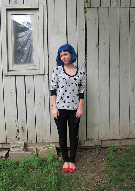 Jamie Jeans + SJ Sweater Made with Mood Fabrics