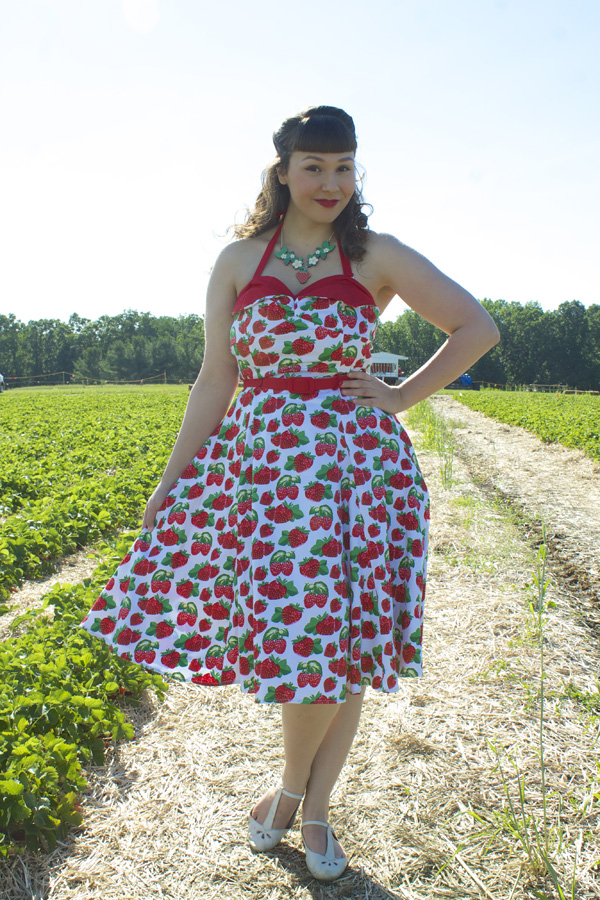 collectif strawberry dress
