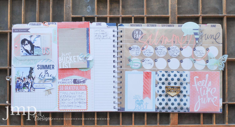 June Memory Planner Album #heidiswapp