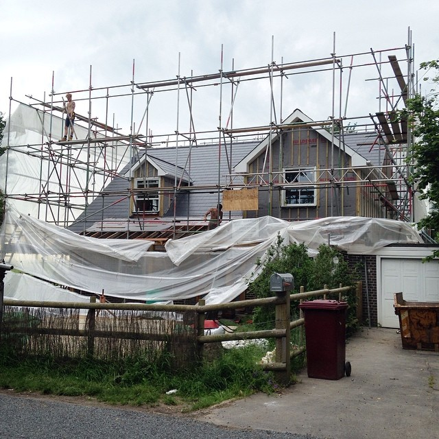 The unveiling has begun! #nomorescaffolding #houserenovation