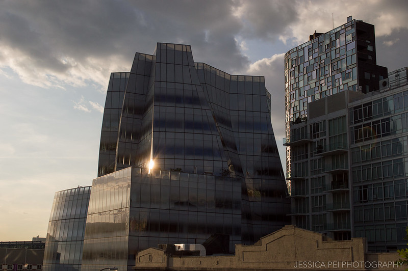 Sunspot on Building by High Line New York
