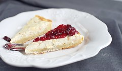 tart with camembert