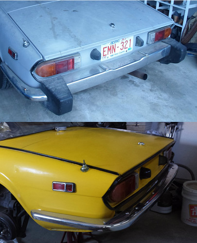 Rear bumper - before and after