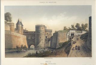 Porte des Allemands - Lithographie d'un dessin d'après nature de Deroy [624 a]